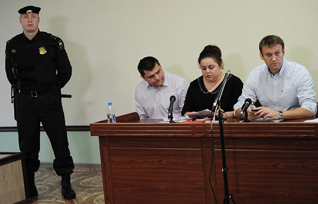 Алексей Навальный в суде по Кировлесу